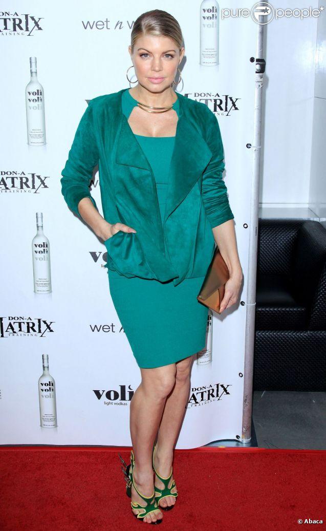 Fergie assiste à la soirée Don-A-Matrix au Confidential dans un total look vert, de rigueur pour la St Patrick. Beverly Hills, le 17 mars 2012.