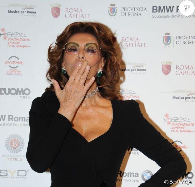 Sophia Loren à Rome le 12 décembre 2011