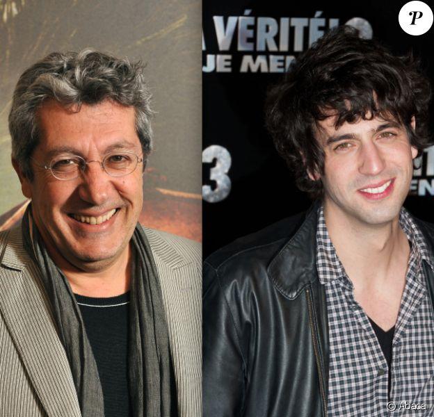 Alain Chabat en avril 2010 à Paris / Max Boublil en janvier 2012 à Paris.