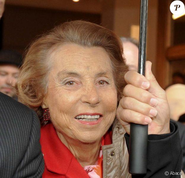 Liliane Bettencourt à Paris, le 26 janvier 2011.