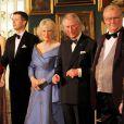 Dîner officiel au palais d'Amalienborg, à Copenhague, donné le 26 mars 2012 par la reine Margrethe II de Danemark en l'honneur du prince Charles et de Camilla Parker Bowles.