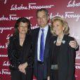 Fulvia Visconti, Giovana Getile et Leonardo Ferragamo  au vernissage de l'exposition La Sainte Anne, l'ultime chef-d'oeuvre de Léonard de Vinci, au Louvre, le 27 mars 2012.