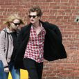 Emma Stone et Andrew Garfield se promenant à New York le 28 mars 2012