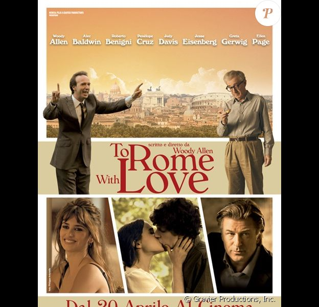 L'affiche de To Rome with Love, en salles le 4 juillet.