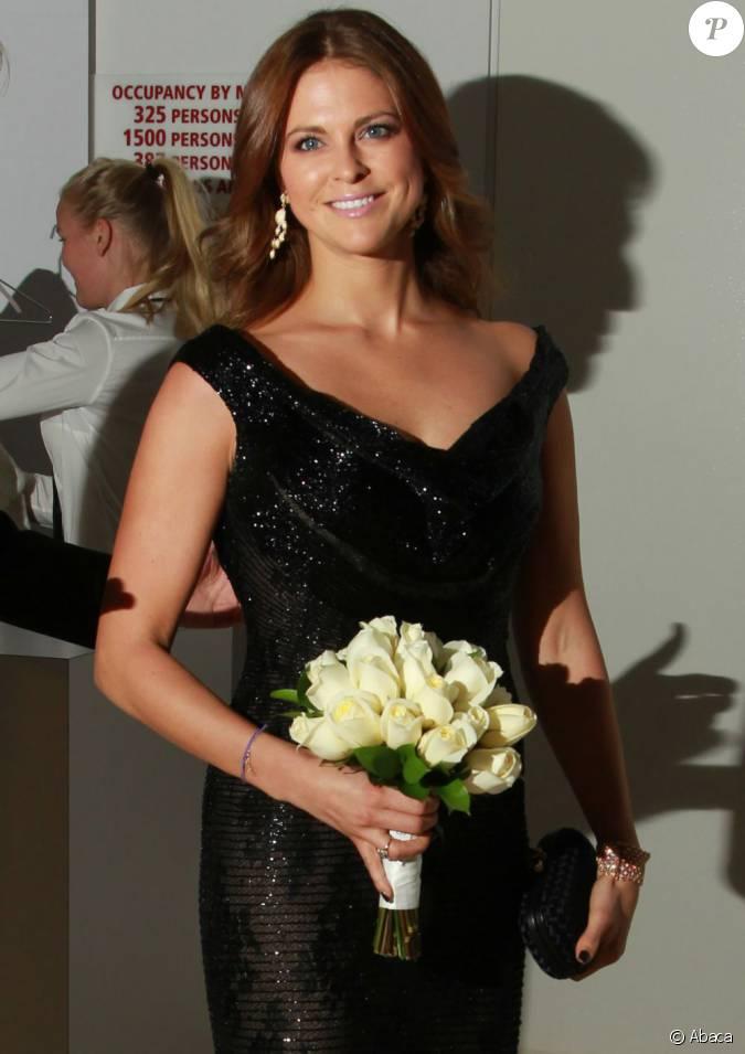 La princesse madeleine de su de lors du gala de la chambre for Chambre de commerce algero americaine