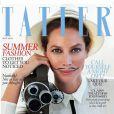 Christy Turlington, réalisatrice moustachue en une du magazine Tatler UK de mai 2012.