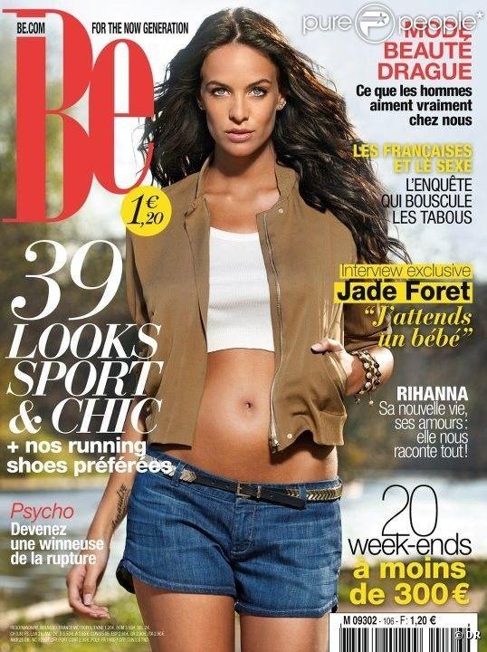 Jade Foret en couverture du magazine Be en kiosques le 4 avril 2012