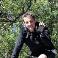 Nicolas Sarkozy s'offre une pause sportive aux alentours du Cap-Nègre, propriété familiale de son épouse Carla. 8 avril 2012