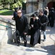 Roland Giraud et son épouse lors des obsèques de Philippe Bruneau le 3 avril 2012 en l'église Saint-Ouen de Caen