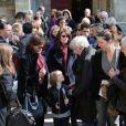 Claire Nadeau lors des obsèques de Philippe Bruneau le 3 avril 2012 en l'église Saint-Ouen de Caen