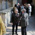 Luis Rego lors des obsèques de Philippe Bruneau le 3 avril 2012 en l'église Saint-Ouen de Caen