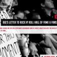 """""""Axl Rose a publié le 11 avril 2012 sur son Facebook, à trois jours de l'intronisation des Guns N' Roses au Rock and Roll Hall of Fame à Cleveland, une longue lettre ouverte dans laquelle il déclare catégoriquement renoncer à cet honneur et taille à mots à peine couverts les anciens du groupe..."""""""