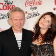 Jean-Paul Gaultier et Gemma Arterton lors du lancement au Trianon le 12 avril 2012 de la collection designée par le créateur de la bouteille Coca-Cola Light