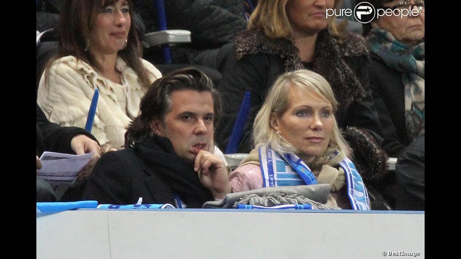 Vincent labrune et margarita louis dreyfus au match lyon marseille en finale de coupe de la - Match paris lyon coupe de la ligue ...