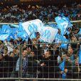 Explosion de joie pour l'OM et ses supporteurs, le samedi 14 avril, au Stade de France, lors de la finale de la Coupe de la Ligue opposant le club à l'OL.