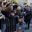 Nicolas Sarkozy et Carla Bruni à Nice le 20 avril 2012