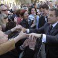 Nicolas Sarkozy s'offre un bain de foule à Nice le 20 avril 2012
