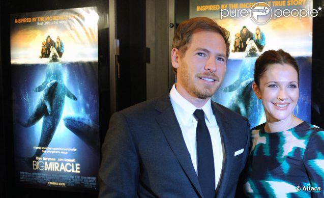 Drew Barrymore et son fiancé Will Kopelman le 25 janvier 2012 à Washington