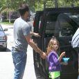 David Charvet et Brooke Burke, entourés de leurs enfants Heaven et Shaya, à Malibu, le samedi 28 avril 2012.