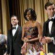 Michelle Obama lors du traditionnel dîner des correspondants de la Maison Blanche le 28 avril 2012 à Washington DC