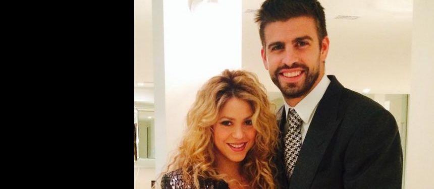 Shakira, enceinte, et Gerard Piqué